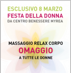 Massaggio gratis festa della donna